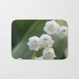 Bloomed White Flower Close-Up Bath Mat