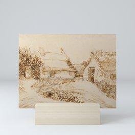 Vincent van Gogh -  Two Cottages at Saintes-Maries-de-la-Mer (1888) Mini Art Print