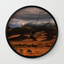USA colorado Desert Nature Clouds Wall Clock