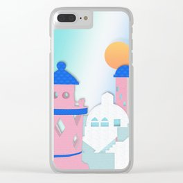 Rose Tinted View Clear iPhone Case