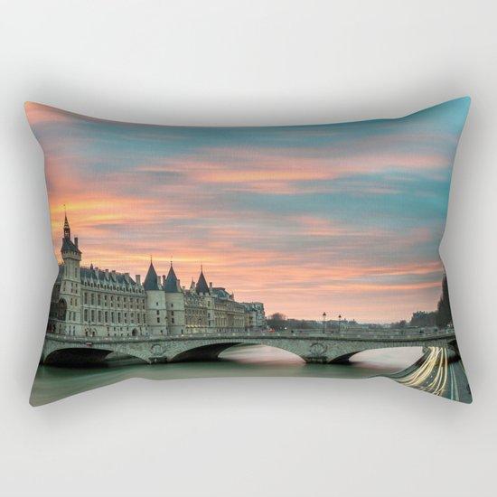 Paris by night France Rectangular Pillow