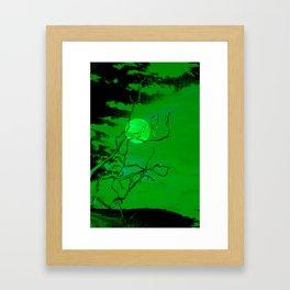 Emerald Moon Framed Art Print