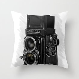Roleiflex Throw Pillow