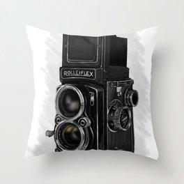 Roleiflex Throw Pillow