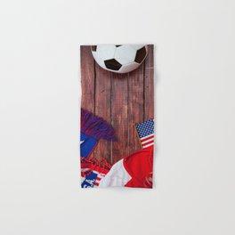 United States Soccer Fan Background Hand & Bath Towel