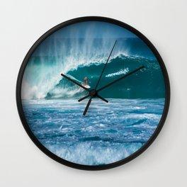 Surfing Hawaii Wall Clock