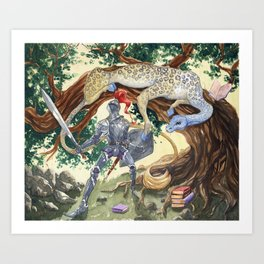 King Pellinore and the Questing Beast Art Print