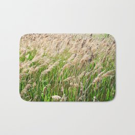 Blooming foxtail in summer sunny day Bath Mat