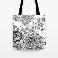 batik Tote Bags featuring Batik by Tisha Haryanto