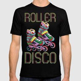 Vintage Roller Disco 70s 80s Skater Retro print Fans T-shirt