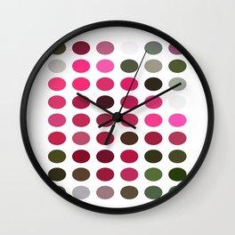 Crape Myrtle Dots Wall Clock