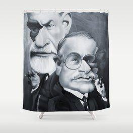 Sigmund Freud and Carl Jung Shower Curtain