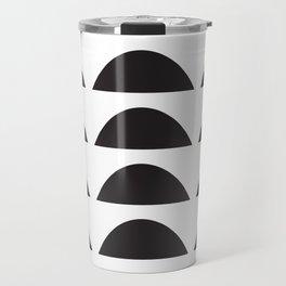 Wonky Arches | Black + White Travel Mug