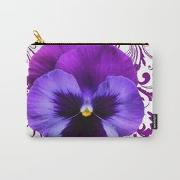 LILAC PURPLE PANSY SPRING FLORAL PATTERN Carry-All Pouch