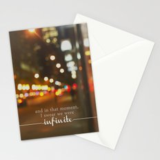 perks of being a wallflower - we were infinite Stationery Cards