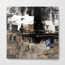 Lisbon - Ruined Facade Metal Print