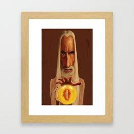 Caricature of Christopher Lee Framed Art Print