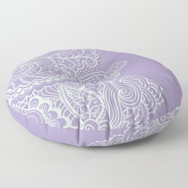 Purple Mehndi II Floor Pillow