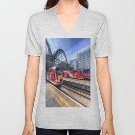 Kings Cross London Trains Unisex V-Neck