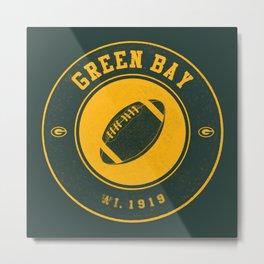 Green Bay football vintage logo green Metal Print