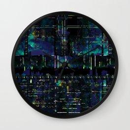 Glitch Odyssey Wall Clock