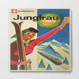 Vintage poster - Jungfrau, Switzerland Metal Print