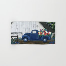 Flower Farm Truck Hand & Bath Towel