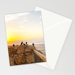 Sunrise birds of the Judean Desert Stationery Cards