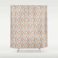 poker Shower Curtains featuring Poker Chips by Kippy