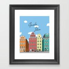 Gamla Stan Stockholm Framed Art Print