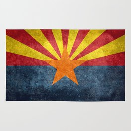 State flag of Arizona in Vintage Grunge Rug