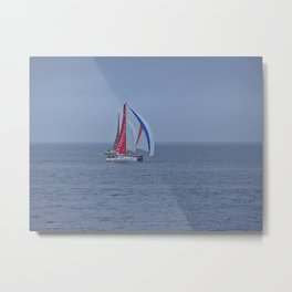 part 2 of 4 of Sailing Battle 42-56  - Transat Quebec St-Malo Metal Print