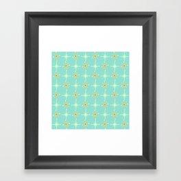 Retro Stars Framed Art Print