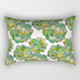Rosette Succulents – Green Palette Rectangular Pillow