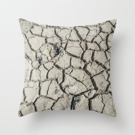 Parched land in the Regional Natural Park of Camargue Throw Pillow