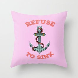 Anchor tattoo Throw Pillow