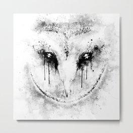 barn owl wsbw Metal Print