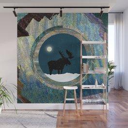 Quiet Moose Magic at Full Moon Wall Mural