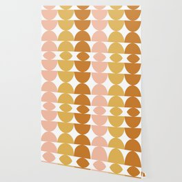 Simple Shapes in Earth Tones Wallpaper