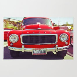 Red Volvo classic Rug