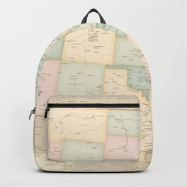 "Vintage map of the USA, high detail, ""librarian"" Backpack"
