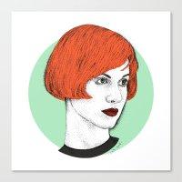 hayley williams Canvas Prints featuring Hayley by Iiris Ella