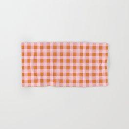 Gingham Pattern - Pink & Orange Hand & Bath Towel