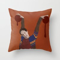 vampire Throw Pillows featuring Vampire by mycolour