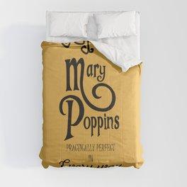 Mary Poppins poster, minimalist movie, Julie Andrews cult film, alternative affiche, Supercalifragi Comforters