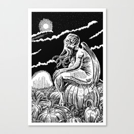 It's the Great Cthulhu! Canvas Print