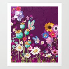 Purple Meadow Art Print