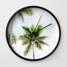 For the love of palm trees | Dominican Republic travel photography print | Summer time Wall Clock