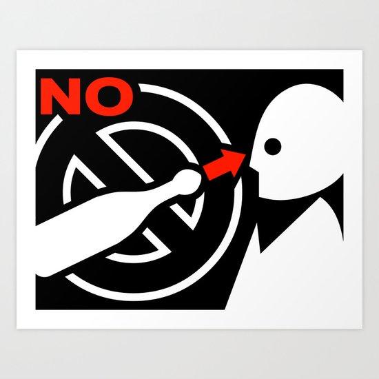 NO #1 Art Print