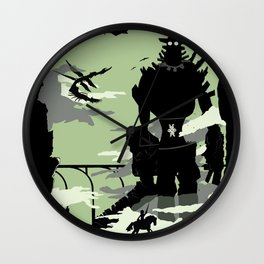 Silhouette of the Colossus Wall Clock